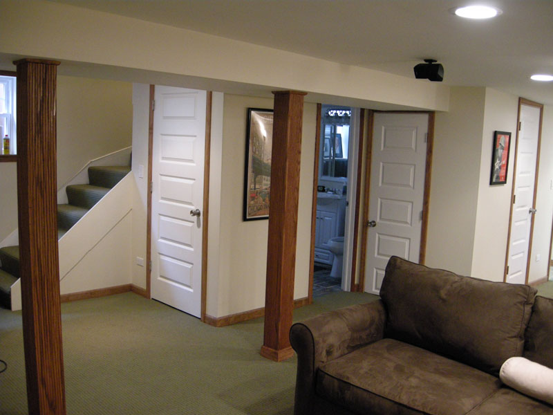 brighten basement apartment basement living area with